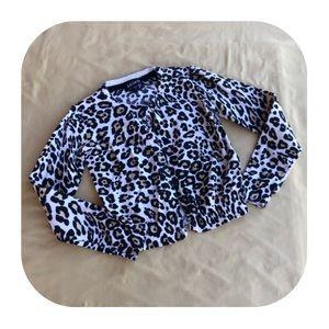 George cheetah print cardigan XS 4/5